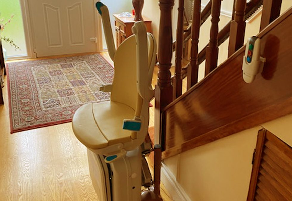 Curved Stairlift in Dun Laoghaire, Dublin